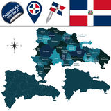 Map of Dominican Republic Stock Photography