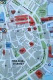 Map of downtown Boston Stock Photos
