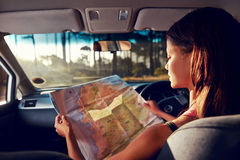 Map driver Royalty Free Stock Images