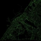Map of Dubai, satellite view, United Arab Emirates Stock Photography