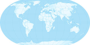Map of earth. With borders Stock Photos