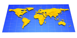 Map of Earth Royalty Free Stock Photography