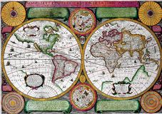 Map of the earth Royalty Free Stock Photos
