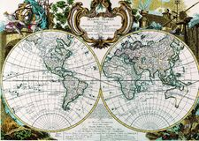 Map of the earth Stock Photo
