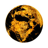 Corroded globe of the Earth Royalty Free Stock Photo