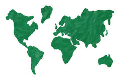 Map of the earth Stock Photography