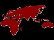 Map of the Eastern Hemisphere Royalty Free Stock Image