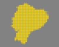 Map of Ecuador Royalty Free Stock Photography