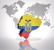 Map of Ecuador Stock Photo