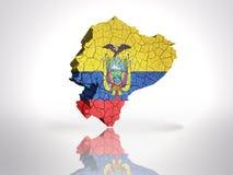 Map of Ecuador Stock Photography
