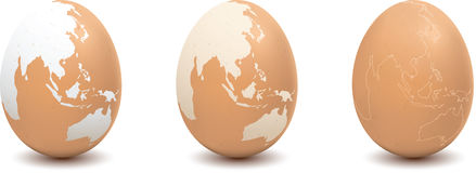 Map on Egg 2. Illustration of egg with map Stock Image