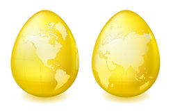 Map on eggs Royalty Free Stock Photography
