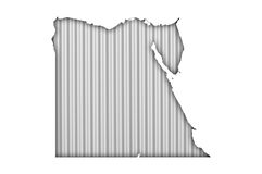 Map of Egypt on corrugated iron. Colorful and crisp image of map of Egypt on corrugated iron stock photography