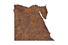 Map of Egypt on rusty metal. Colorful and crisp image of map of Egypt on rusty metal stock photo