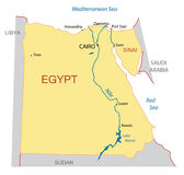 Map of Egypt - vector Stock Images