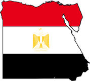 Map Egypt-Vector Royalty Free Stock Photo