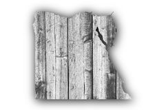 Map of Egypt on weathered wood. Colorful and crisp image of map of Egypt on weathered wood stock photos