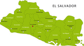 Map of El Salvador stock photos
