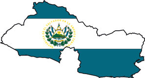 Map El Salvador-Vector Stock Photo