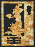 Map of England Stock Photography