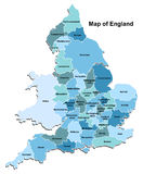 Map of England Royalty Free Stock Photos