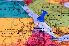 Map of Eritrea Stock Photo
