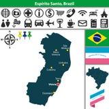Map of Espirito Santo, Brazil Royalty Free Stock Photography