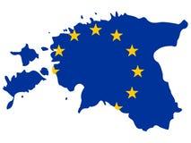 Map of Estonia Royalty Free Stock Photos
