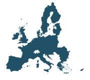 Map of Eu. Detailed map Eu on white background stock illustration