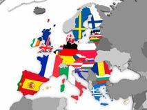 Map of EU Stock Photo