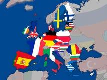 Map of EU Royalty Free Stock Photo