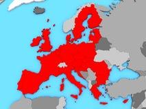Map of EU Royalty Free Stock Photos