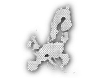 Map of the EU on old linen Royalty Free Stock Photo