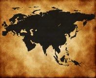 Map of Eurasia Stock Photos