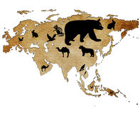 Map of Eurasia Royalty Free Stock Images