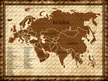 Map of Eurasia Royalty Free Stock Image
