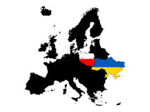 Map euro 2012 Stock Photography
