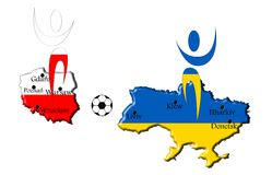 Map euro 2012 Royalty Free Stock Photos