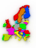 Map of europe Royalty Free Stock Image
