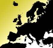 Map of Europe. An outline map of Europe Royalty Free Stock Images