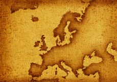 Map of Europe Stock Image