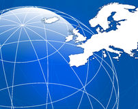 Map of Europe. An illustration Map of Europe Stock Photo