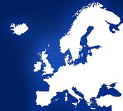 Map of Europe. An illustration Map of Europe Stock Photography