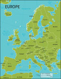 Map of Europe. A map of Europe with all country names, and country capital cities. Organised in vector version in easy to use layers. Colors and strokes also Royalty Free Stock Photos