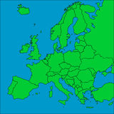 Map of Europe with borders Stock Image