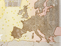 Map europe close up Royalty Free Stock Photos