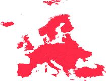 Map of Europe eps file vector illustration