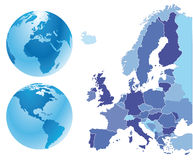 Map of europe Royalty Free Stock Photography