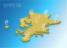 Map Europe isometric concept. Stock Images