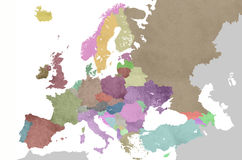 Map of europe Royalty Free Stock Images